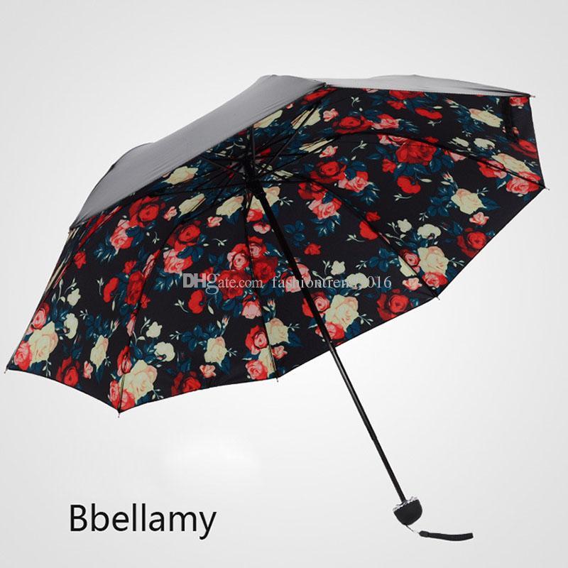 Anti UV Umbrella Mini Pequeño Plegable de las mujeres Sun Rain Gear Parasol Girl's Gift Wholesale DHLFEDEX Envío Gratis