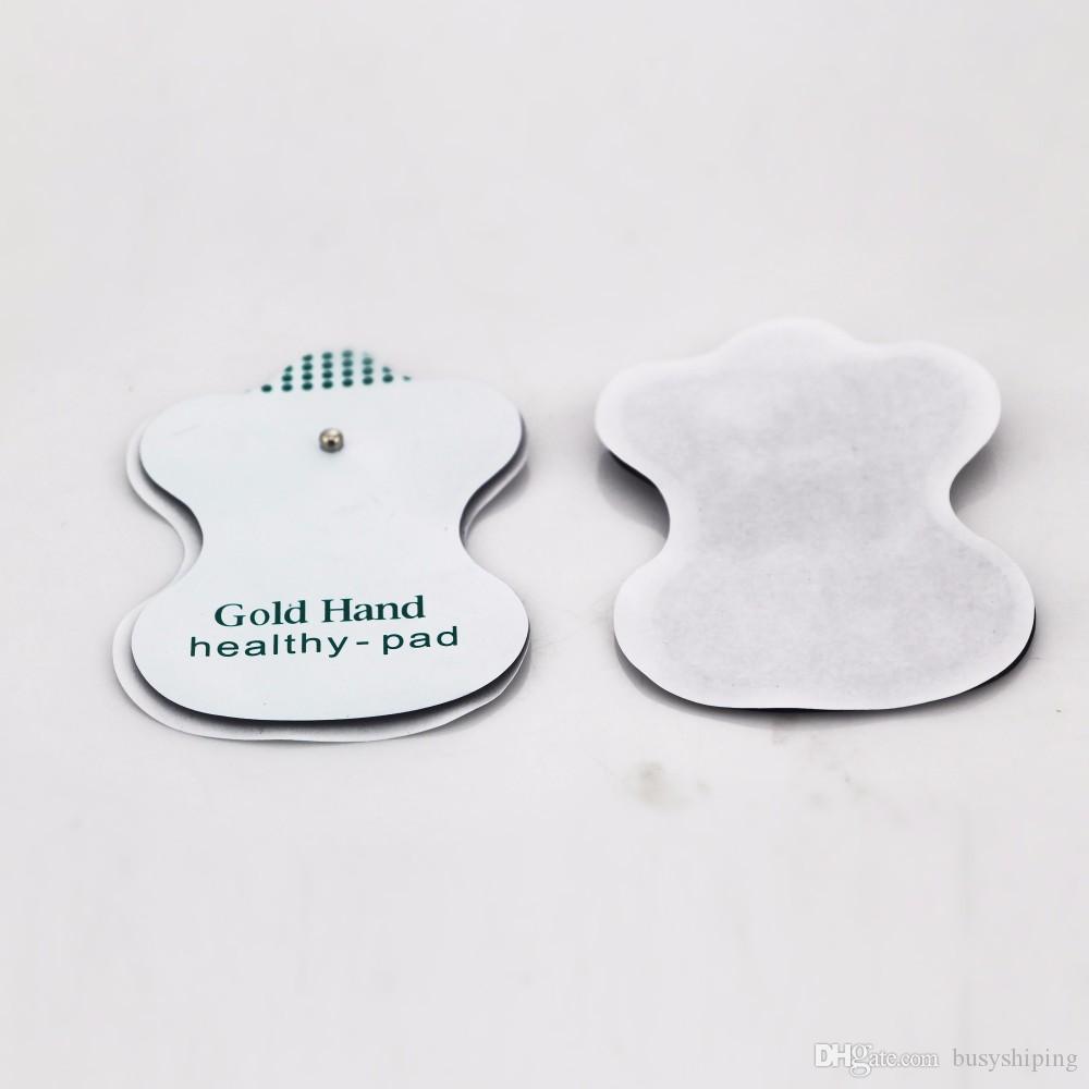 Assistenza sanitaria! NUOVI elettrodi bianchi dell'elettrodo di / la macchina digitale di terapia di agopuntura di dieci con alta qualità Trasporto libero!