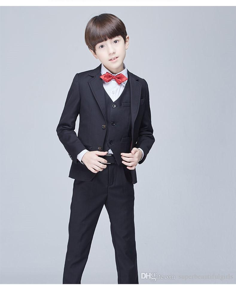 Handsome Boys Formal Occasion Tailcoat Boy Birthday Party Suits Prom ...
