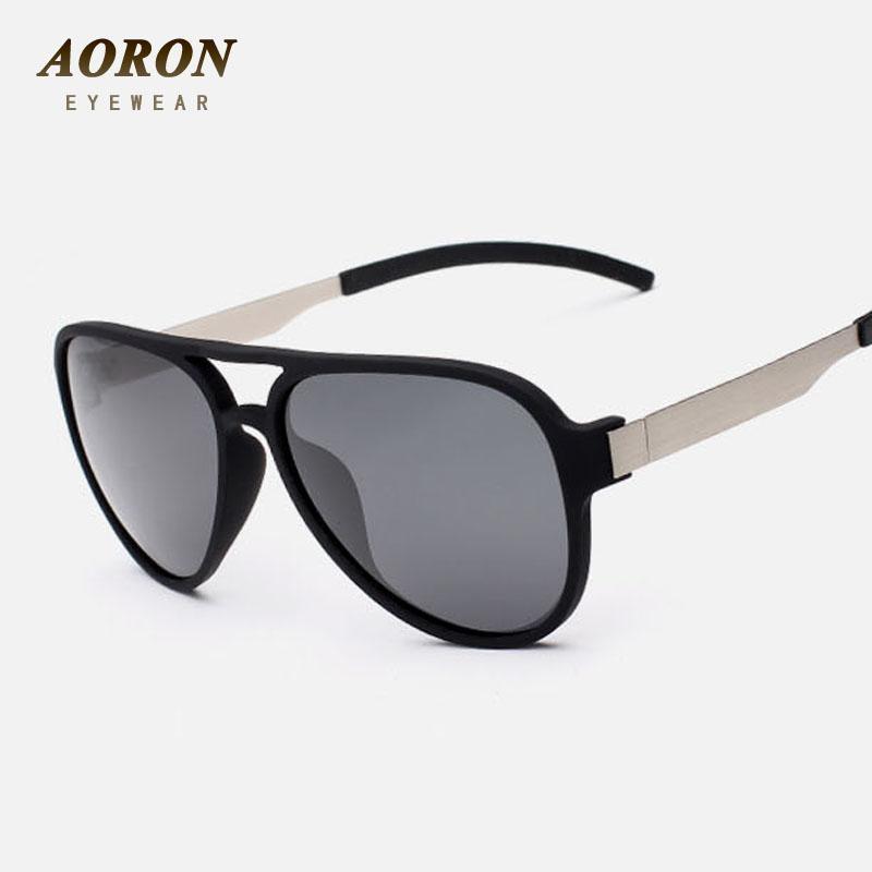 dfd18a538 Compre Atacado AORON Nova Moda Polaroid Óculos De Sol Dos Homens Polarizados  Clássicos Óculos Homens Óculos De Marca Designer De Moda Oculos De Sol ...