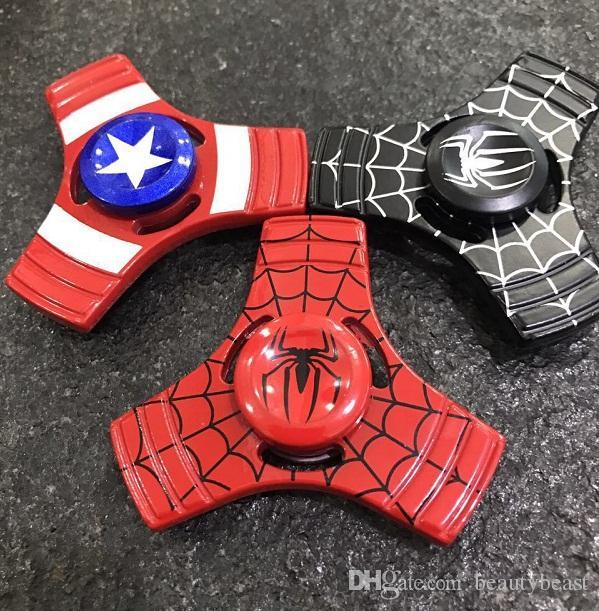 Super Hero Spiderman Hand Spinner Triangle Alloy The Avengers