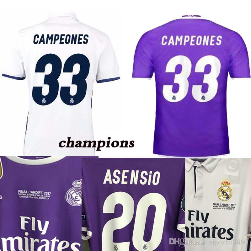 4711e83c7 2016 2017 Champions League Finals Soccer Jersey 16 17 Real Madrid ...