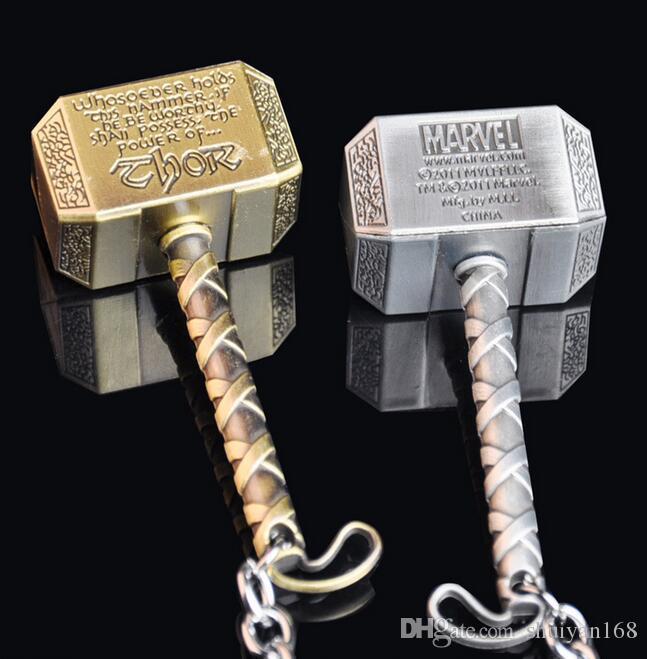 Chaveiro do filme Moda Chaveiro Acessório Metal Thor Martelo Tipo Chave De Metal Chaveiro para Vingadores Mjolnir Figura DHL Livre Presente Do Dia Das Bruxas