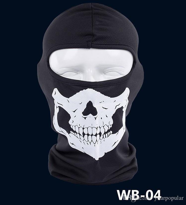 New Ghost Skull Mask Skeleton Hats Tactical Cosplay Costume Army Balaclava Hood Motorcycle Bicycle Halloween Full Face Masks