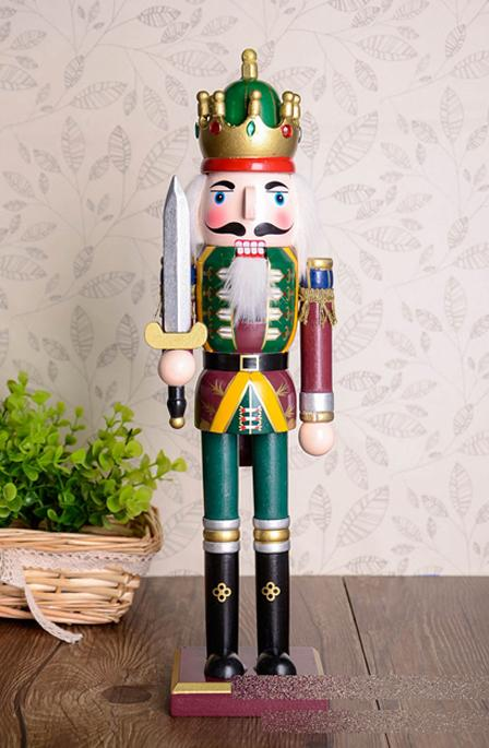 2017 Xmas gift 30cm Orignal Wood Hand made Nutcrackers soilder with sword kata home decoration accessories nutcracker miniatura