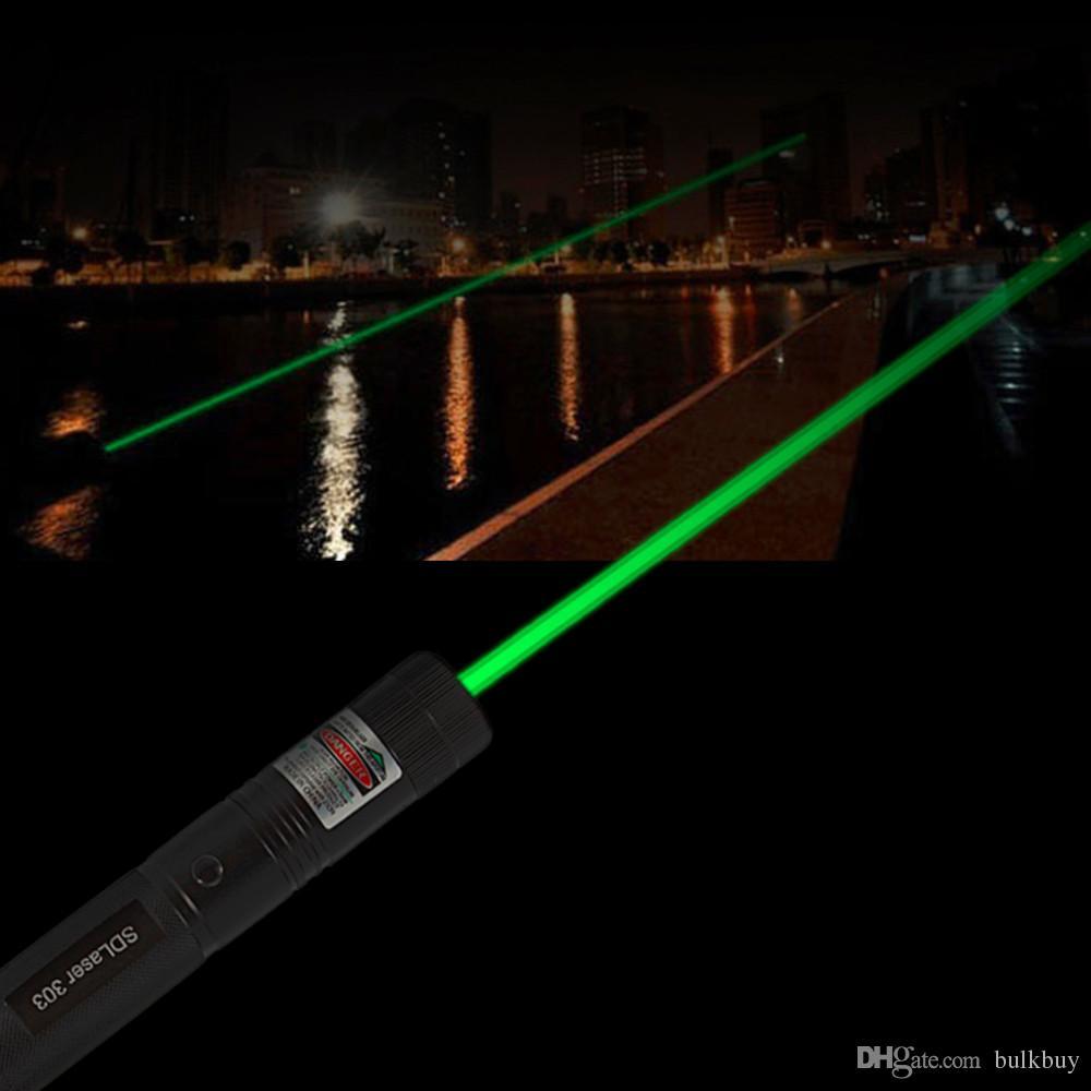 Powerful SD303 Adjustable Focus 532nm Green Laser Pointer Light NEW Aluminum Alloy Laser Pointer Pen wholesale