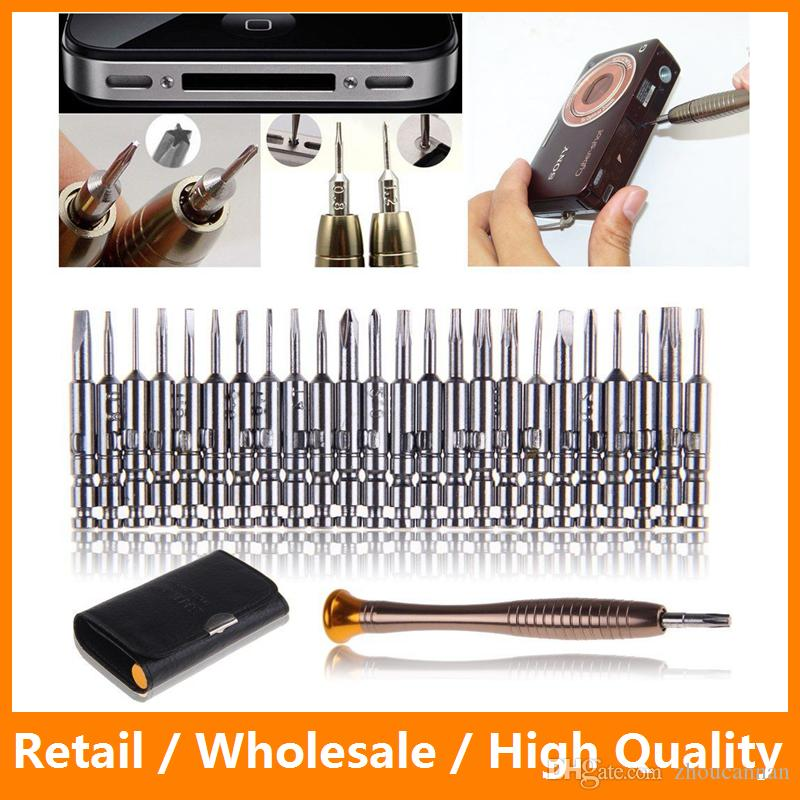 New 25 in 1 Precision Torx Screwdriver Set Opening Repair Tools Kit for iPhone PC Cellphone Camera Watch Electronics