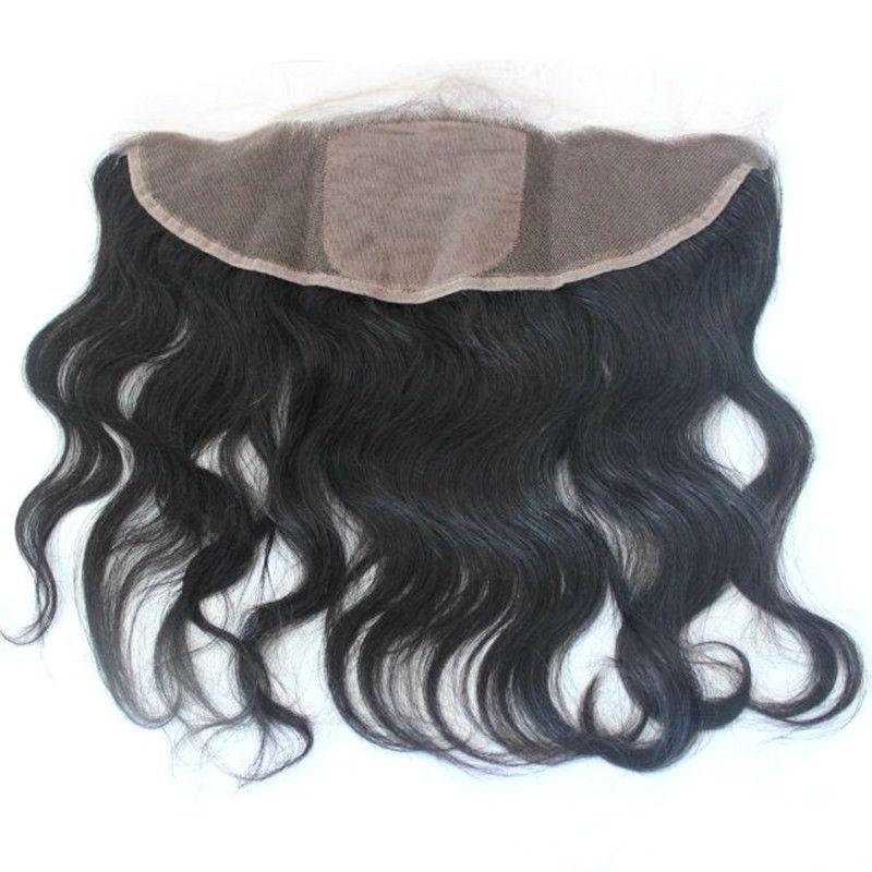 Corpo Cabelo brasileiro de onda Lace frontal Encerramento Silk base Topo 13x4 Lace frontal humano extensões de cabelo com cabelo do bebê
