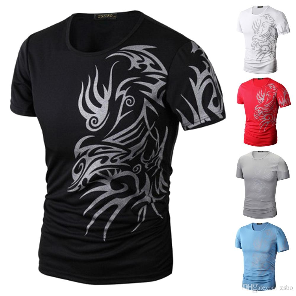 8b4b8f19b3b 2017 Men S T Shirt Fashion Clothing Sport Shirt Printing ZSIIBO Brand  Elastic Product Good Quality Lower Price Crossfit Men Shirt BTS TX70 F  Shirts For Men ...
