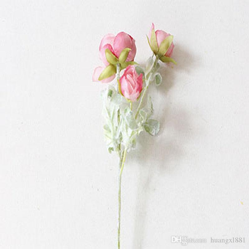 Nova decoração de seda artificial falso flor nova simulação decoração de casamento flor reunião em casa hotel decoração flor de seda