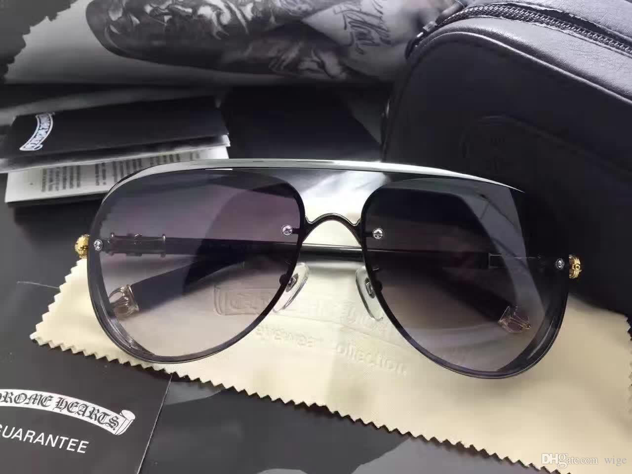 abaad9631f78 Men Muncher Silver Sunglasses Brown Gradient Classic Style Super ...