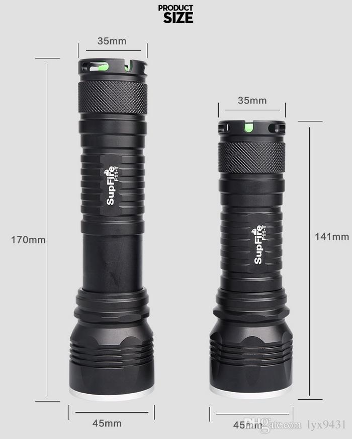 Zoomable LED-Taschenlampe 18650 wiederaufladbare Taschenlampe Zoom handliche Taschenlampe USB-Ladegerät tragbare Camping Licht Angeln Wandern im freien Lichter
