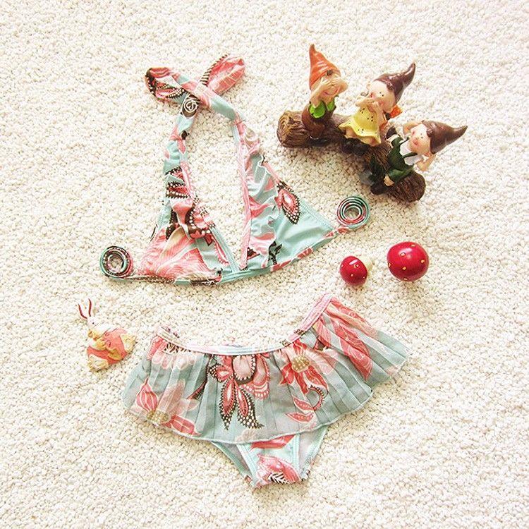 Costume da bagno bambini bebek bikini swimwear 2017 bikini ragazze bambini bambina costumi da bagno costumi da bagno alla moda