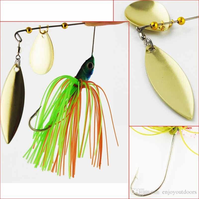 18g Hard lure Rubber Jig Spinner bait Lead Jig Head Metal Spoon Lures Fishing Lures