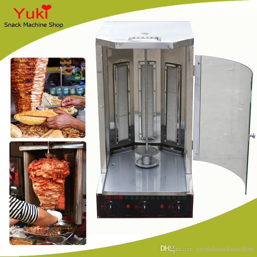 Commercial Turkey Doner Kebab Machine Gas BBQ Grill Rotary Meat Roasting Machine Stainless Steel Kebab Machine