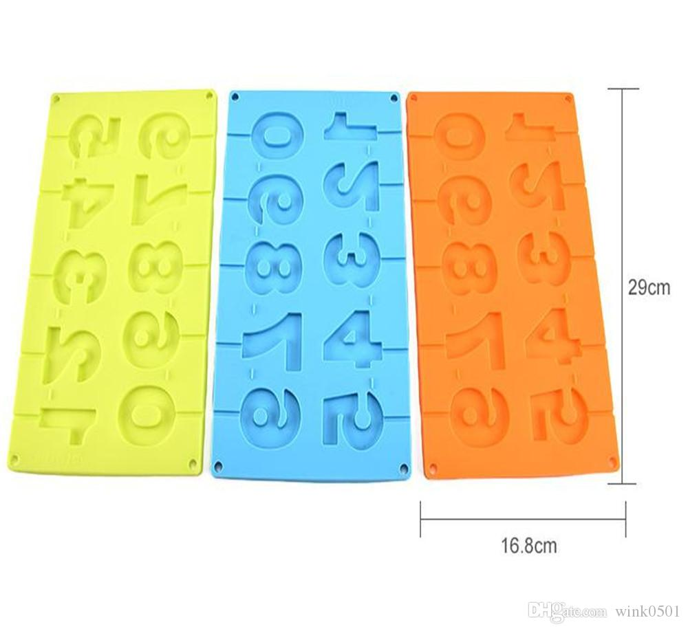 Daily Use Cooking Tools Silicone Lollipop Molds Random Number And ...