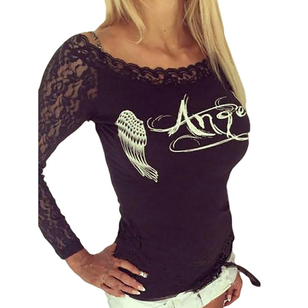 Women S Back Hollow Angel Wings T Shirt Tops Summer Style Woman Lace Long  Sleeve Tops Short Sleeve Shirt Novelty T Shirts From Peay b6c986e2b