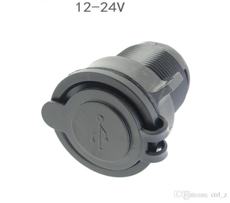 Caricabatteria auto 2 USB Caricatore presa di corrente Presa di corrente Caricabatterie smartphone 5V 2.1A / 1A autocarri Minibus camion