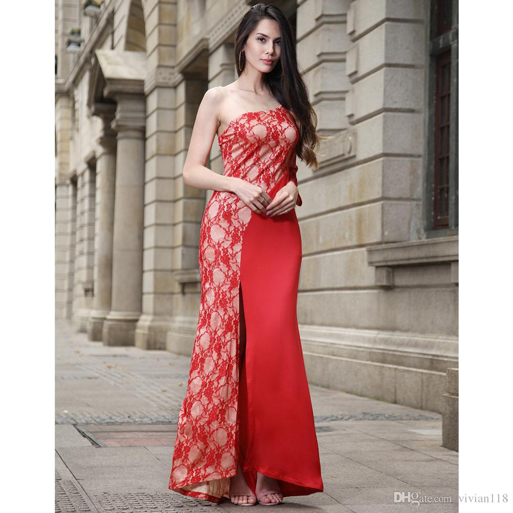 b0c8f3099c8 New Fashion Arrival Unique Dresses Glamorous Sexy Ruched Lace ...