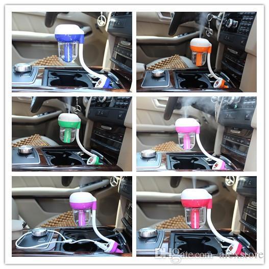 Car Humidifier Air Mist Diffuser Purifier Car Humidifiers Air Cleaning Mini Charging Portable Water Bottle Steam Humidifier CE FCC RoHS