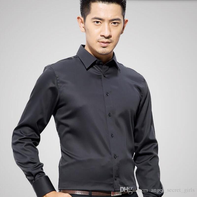 Newest design men shirt fashion men wedding dress shirt custom made poor color groom feast long sleeve tuxedos shirt