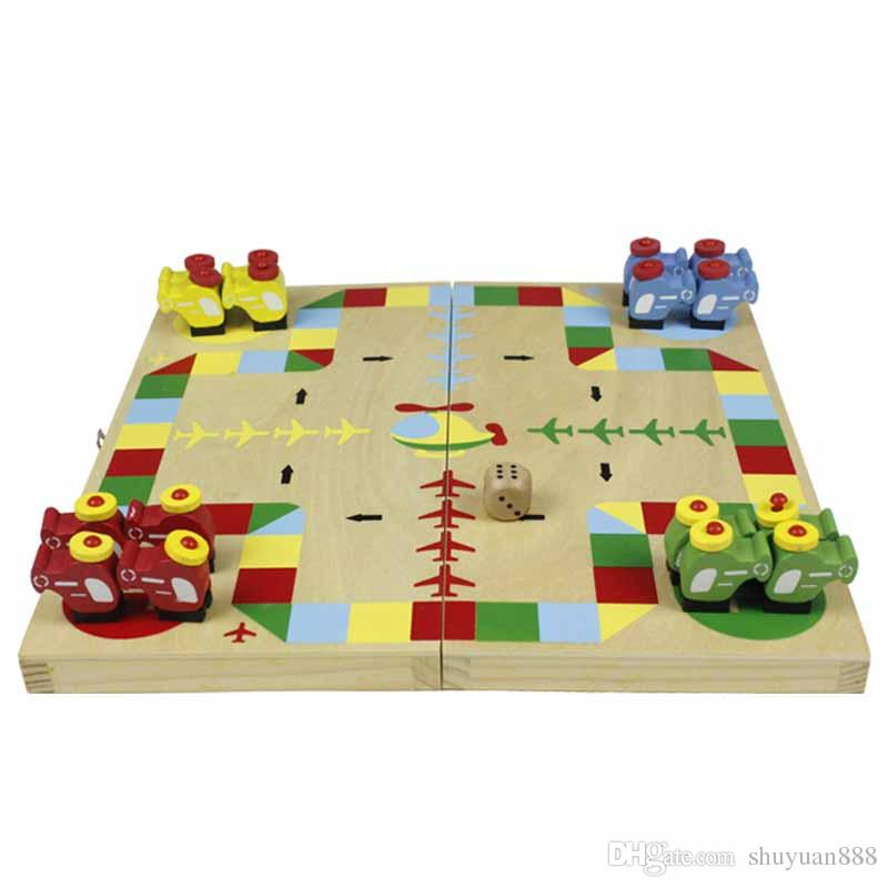 Wooden animals children flying chess boarders leisure puzzle table games adult baby paternity games toys wholesale free DHL
