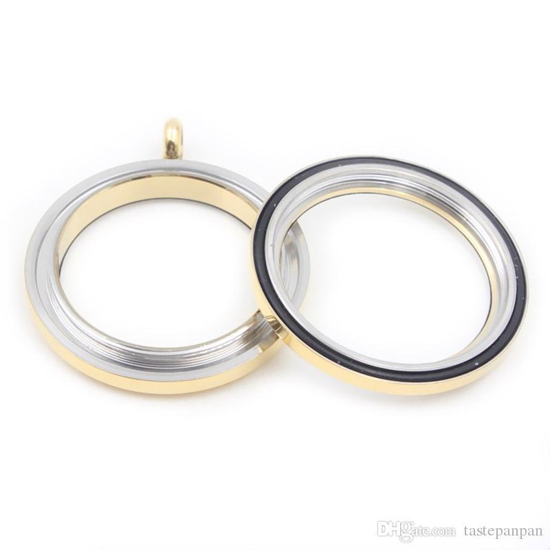 Panpan bijoux Preuve de l'eau Haute qualité 30mm en acier inoxydable 316L twist lockets flottant locket avec verre trempé