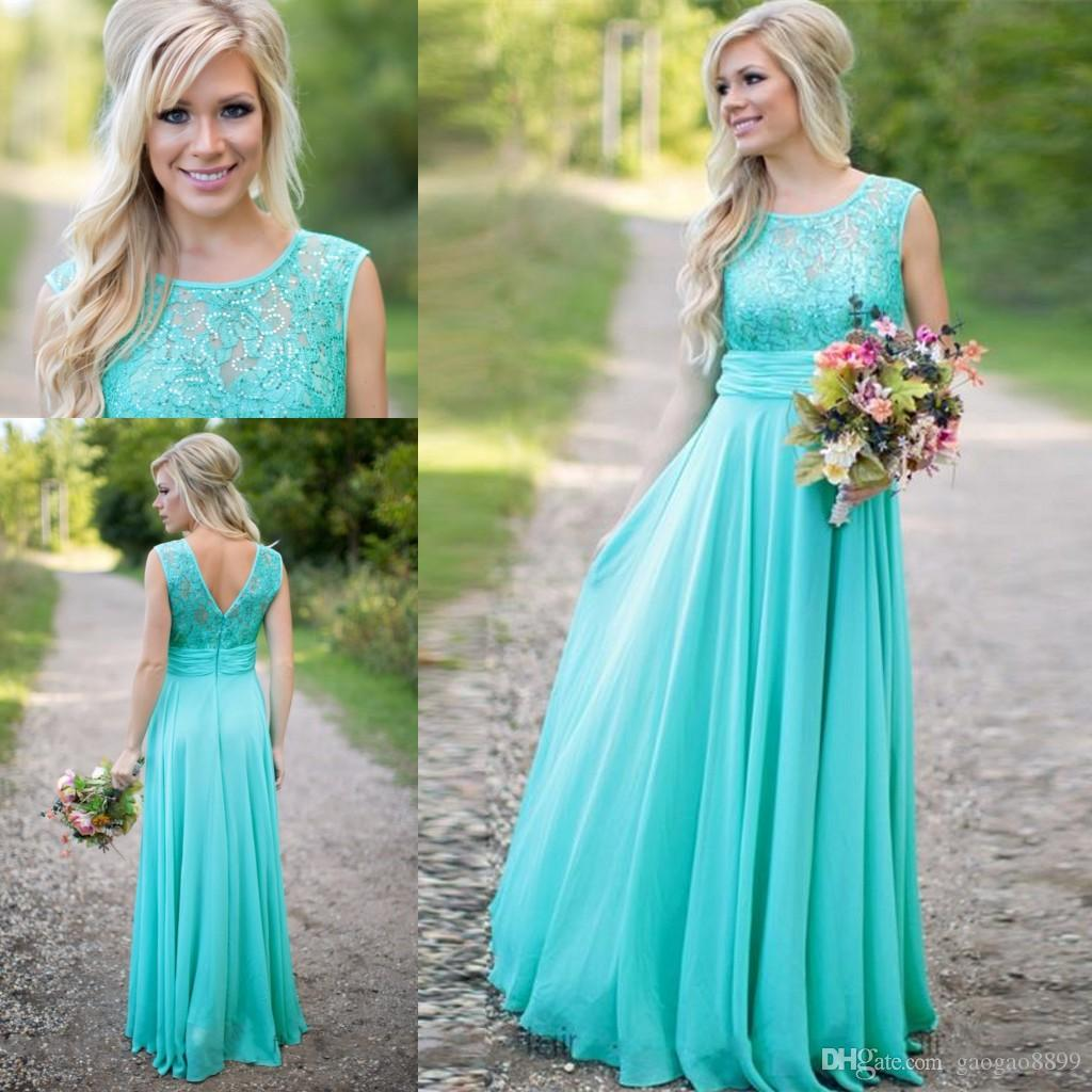 Aqua turquoise country bohemian lace long sheer bridesmaid dresses aqua turquoise country bohemian lace long sheer bridesmaid dresses 2016 a line chiffon sequins top junior party brides maid dress cheap grey bridesmaid ombrellifo Image collections