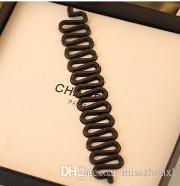 New Style Fashion Braid Twist Magic Hair Style Tressage outil Crochet Noir / Blanc / Gris