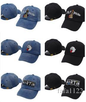 2017 Style Denim Distressed Boo Mario Ghost Black Cap Hat Embroidered Love    Basketball Baseball Caps Martin Show VETEMENTS Bone Gorras Swag Caps Lids  From ... 2ecf90b1774