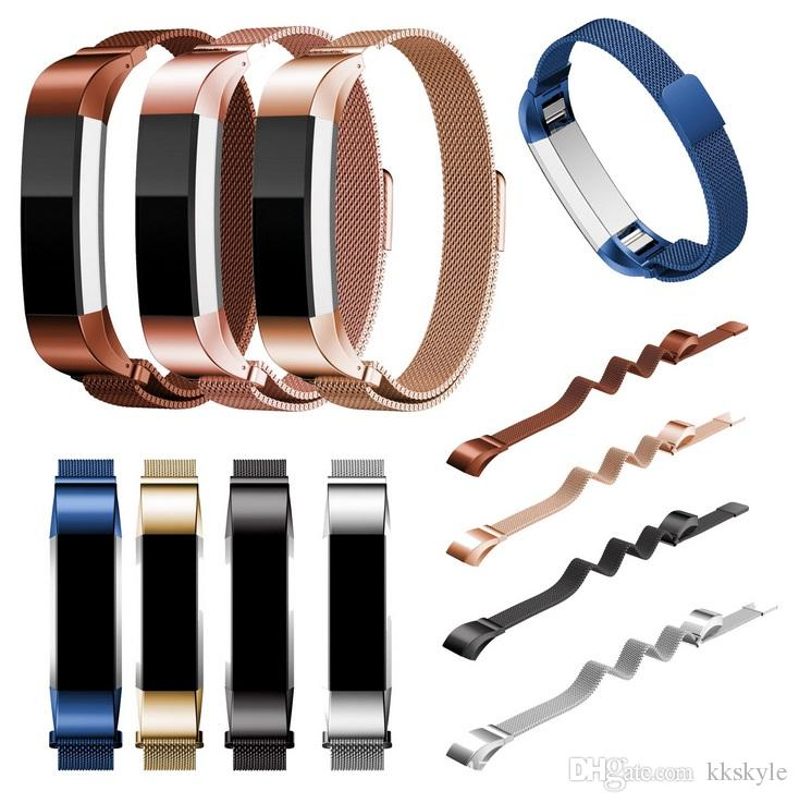 Fitbit Alta HR 2 Bands,Metal Fit bit Alta Band Magnetic Milanese  Accessories 6 5 - 6 7 Wristbands Strap Bracelet Alternative Replacement St
