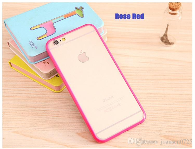 For iphone 7 candy colour case fashion TPU cell phone cases ultra thin back cover shell for iphone 6S 7 Plus 5S 2016 hot sale