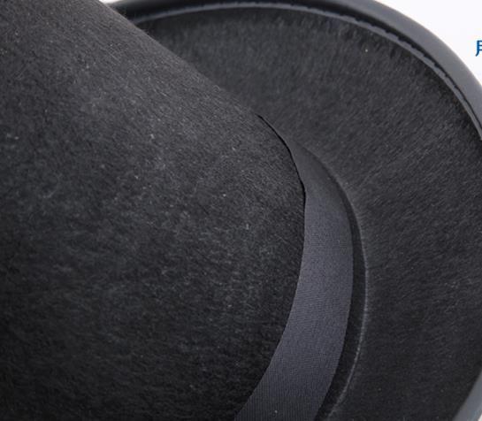 Czarny Satynowy Filcowy Top Hat Magik Dżentelmen Dorosły 20's Costume Tuxedo Wiktoriański Czapka Halloween Boże Narodzenie Party Fancy Dress Top Czapki Prezenty