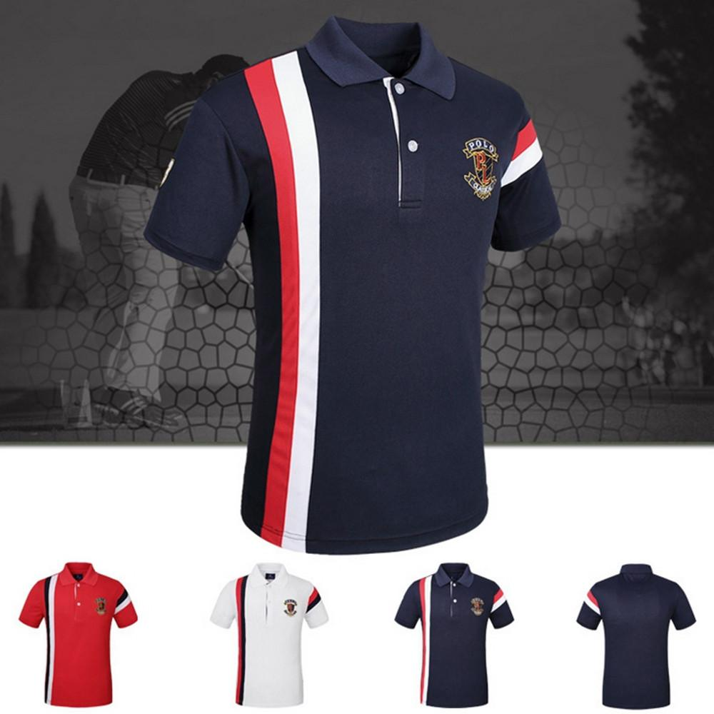 2019 Luxury Brand Male Business Shirts Mens Polo Shirts Embroidery