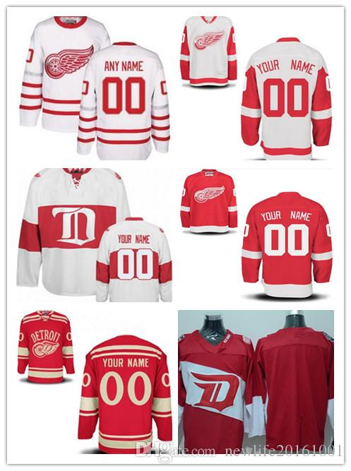 03eaa2e28e2 2019 Personalize Detroit Red Wings Custom Mens Women Youth Hockey Jerseys  Home Red 2017 Centennial Winter Classic White Red Stadium Series S