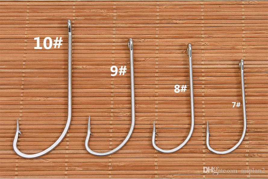 Негабаритный нержавеющая сталь большие морские рыболовные крючки колючий крючок лодка Рыбалка острый Больший рыбный крючок, PESCA 1606733