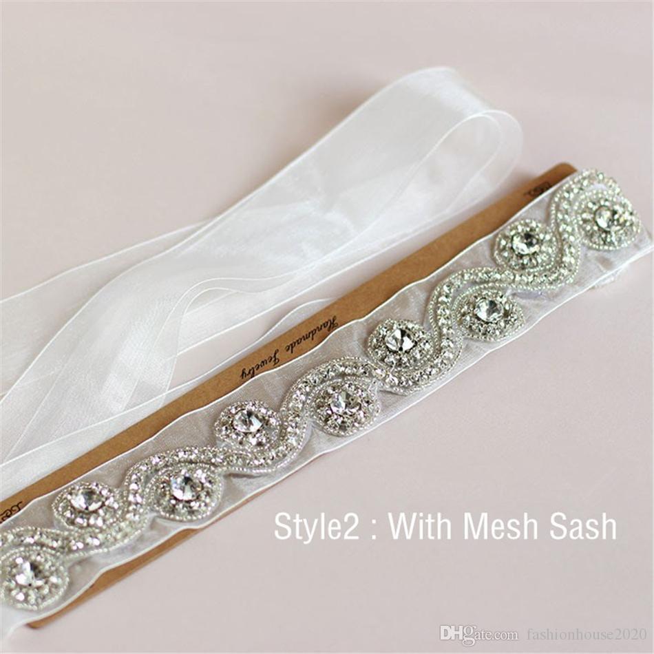 Crystal Rhinestone Wedding Headpiece / Bridal Belt Sash Shiny Bridal Tiaras & Hair Wedding Accessories Fast Shipping