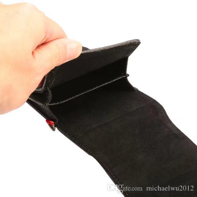 2 فتحات العالمي بو الجلود الهاتف المحمول حزام كليب غطاء حقيبة الحقيبة الجلدية لفون 6 6S 7 زائد سامسونج غالاكسي S7 S7 حافة