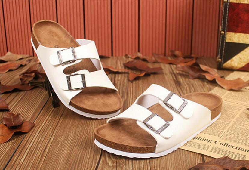 75f59dd52035d New Summer Beach Cork Slippers Sandals Casual Double Buckle Clogs ...