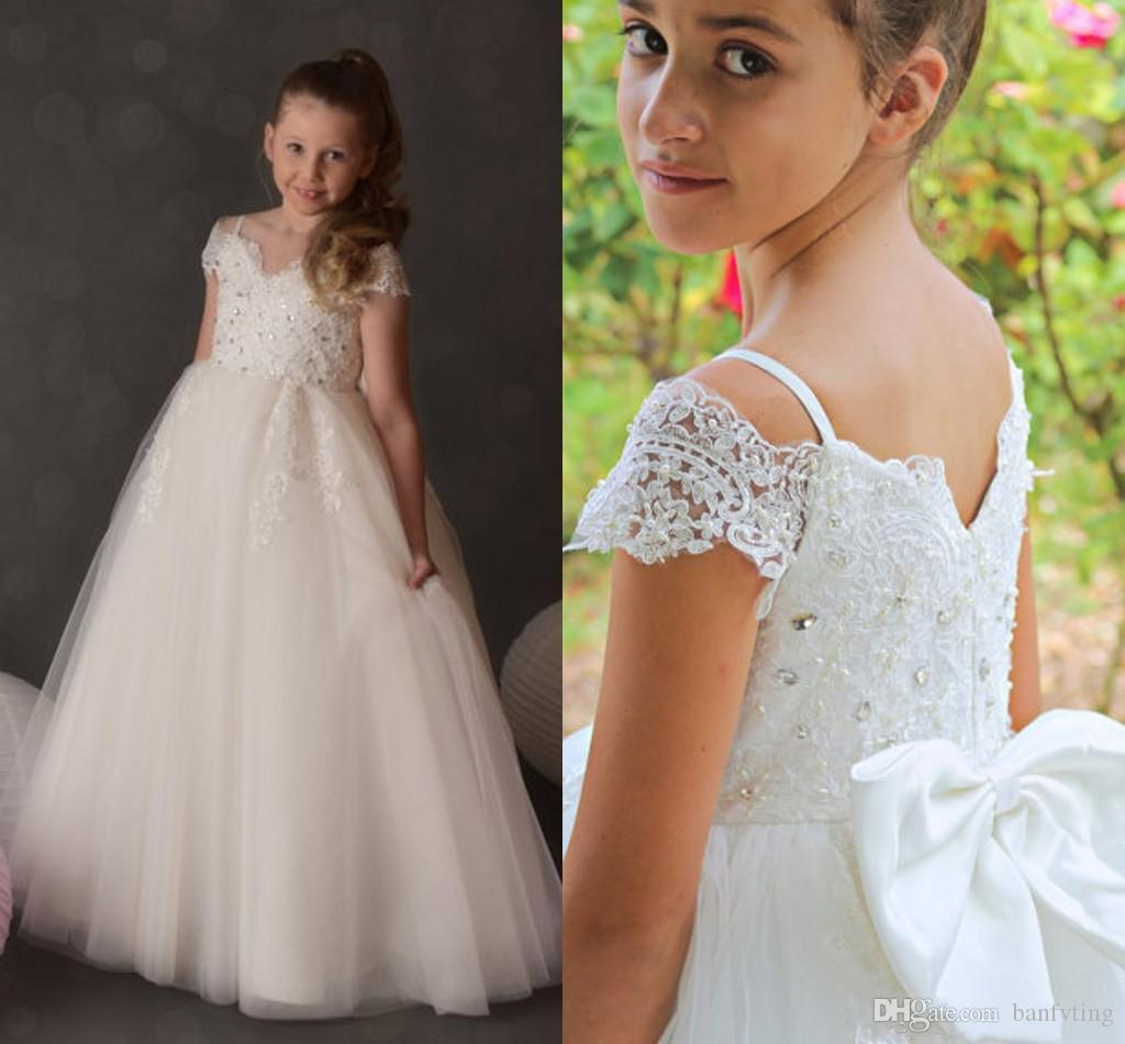 Cheap price ivory flower girl dresses spaghetti lace beads birthday cheap price ivory flower girl dresses spaghetti lace beads birthday gown kids toddler pageant prom dress with bow crystals floor length flower girls girls izmirmasajfo
