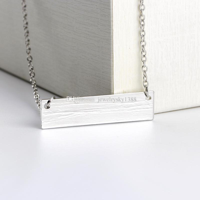 2020 Anne Ayı Bebek Ayı kolye Gümüş Bar kolye Zincirler Anne ve Kadın Çocuklar için kızı Sevgi Moda Takı