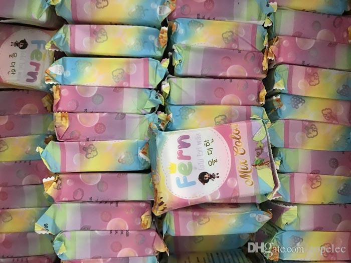 브랜드 뉴 도착 OMO 화이트 플러스 비누 믹스 플러스 5 표백 화이트 스킨 100 % 글루 타 레인보우 비누 DHL 60301