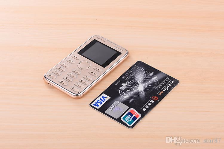Cheap Fashion design Unlocked Ultrathin credit card mobile phone MP3 single sim card FM bluetooth super mini 4.8mm cell phone