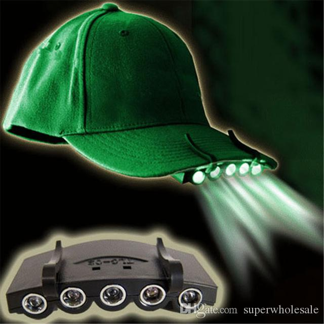 5 LED Cap Light 5 LED Clip On Cap Head Light Hard Hat Brim Clip Lamp  Outdoor Fishing Camping Hands Free Bike Headlamp Headlamps Reviews From  Superwholesale be0f2a856c49