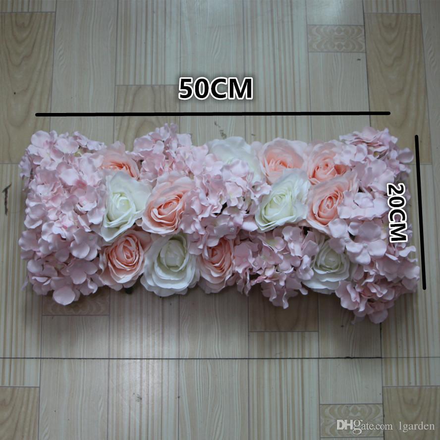 NEW Flower wall wedding road lead artificial silk rose Hydrangea for Wedding arch square pavilion corners decorative /