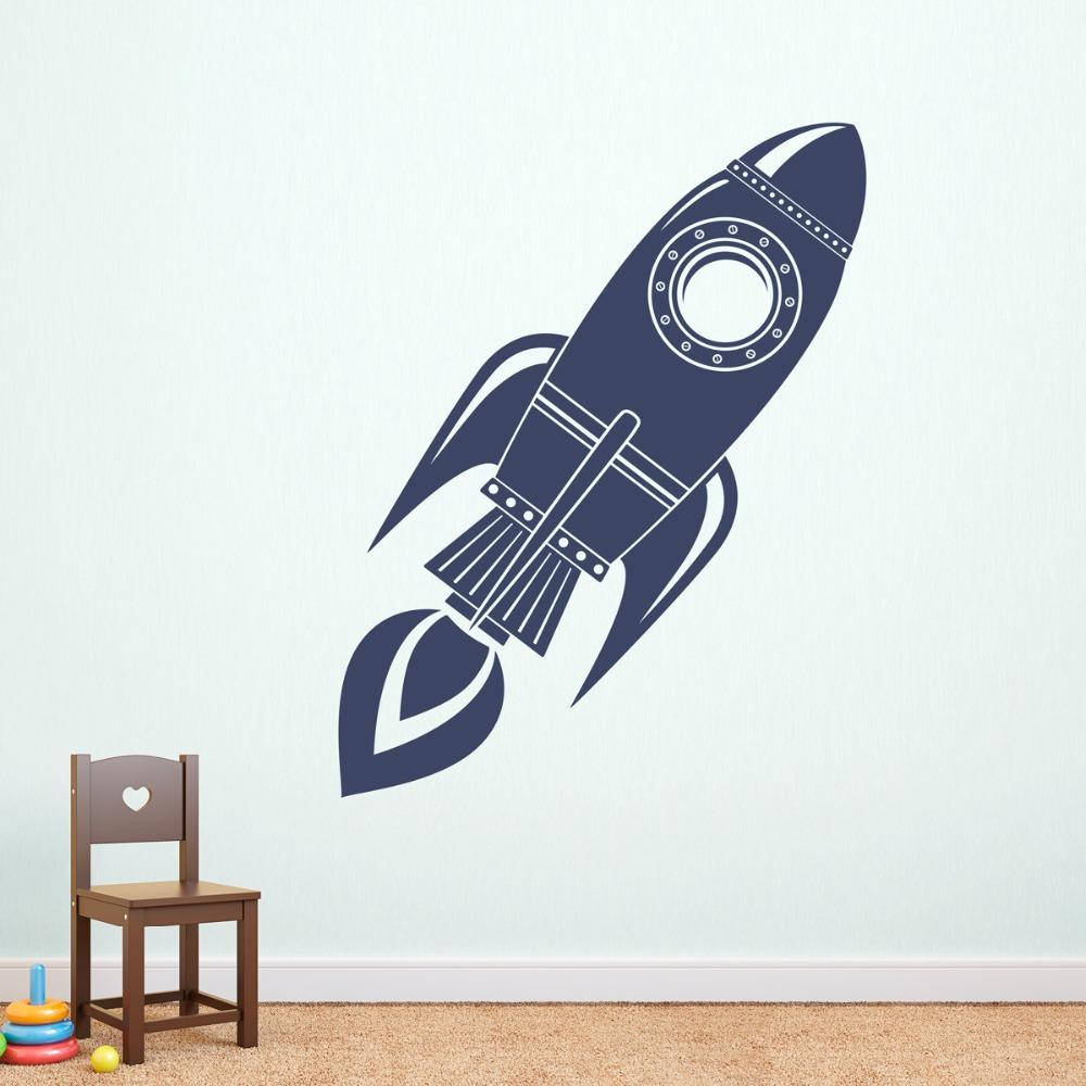 Rocket Wall Decal Silhouette Art Mural Boys Bedroom Bedding Decor Doodle Vinyl Space Interior Diy Wall Stickers Wall Stickers Letters Wall Stickers Love ...  sc 1 st  DHgate.com & Rocket Wall Decal Silhouette Art Mural Boys Bedroom Bedding Decor ...