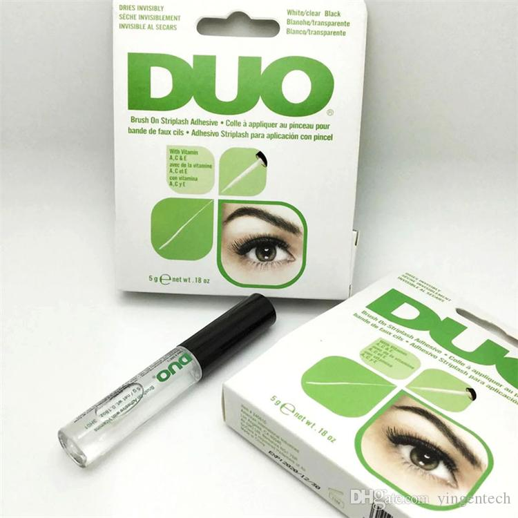 best eyelash glue. 2017 duo eyelash adhesives eye lash glue brush on vitamins white/clear/black/ 5g good quality best extensions from k