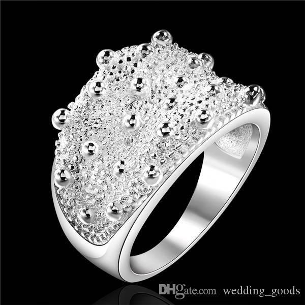 أفضل هدية صغيرة خاتم الكرة الاسترليني والفضة والمجوهرات للنساء WR408 ، والأزياء 925 خواتم فضة باند