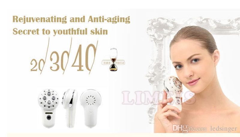 MINI de radiofrecuencia RF electroporación mesoterapia RF fotón Lifting Facial Cuidado Quitar Arrugas piel de apriete de dispositivos Body Spa de belleza