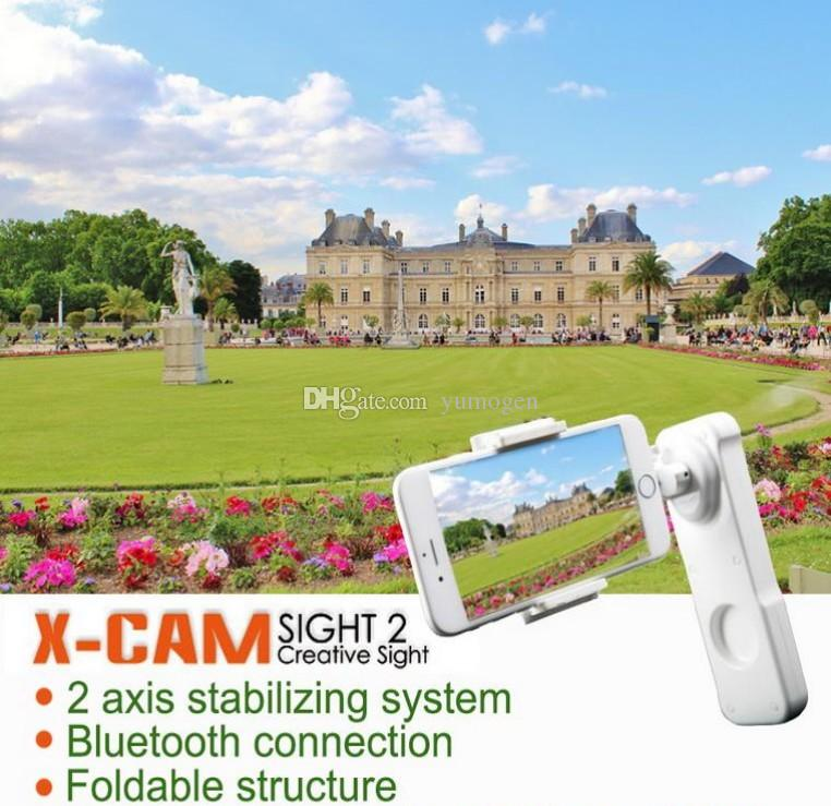 X-CAM SIGHT2 smartphone Handheld Stabilizer mobile phone 2 axis Brushless Gimbal steadicam with Bluetooth for Samsung Iphone huawei xiaomi